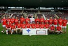The Kilkerrin-Clonberne  team defeated by Micheal Breathnach<br /> in the Senior Football Championship at Pearse Stadium.<br /> Back Row(left to right).<br /> Jonathan Donoghue, Fergal O'Reilly, John Miskell, Michael Costello, Jack Ward, Brian Walsh, Tom Walsh, Shane Brennan, Brendan Ryan, Shane Walsh, Gearoid Higgins, Declan Ryan, Martin Shaughnessy, Fintan Lyons.<br /> <br /> Front Row.<br /> Jamie O'Sullivan, James King, Adrian Ward, Sean Collins, Declan Murphy, Jonathan Ryan, Conor Rabbitte, Tomas Diskin, Enda Daly, Brian Miskell, Michael Finn.