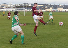 West United v Castlerea Celtic at South Park.<br /> Conor ??O'Loughlin, West United and Cathal Dinneen, Castlerea Celtic