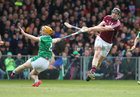 Galway v Limerick Allianz Hurling League semi-final in Limerick.<br /> Galway's Joseph Cooney and Limerick's Richie English