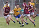 Galway v Roscommon Connacht Under 20 Football sem-final at Tuam Stadium.<br /> Galway's Liam Costello and Colin Murray and Roscommon's L Daly
