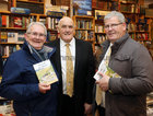 John Benson, Renmore, Senator Billy Lawless, and Cllr Frank Fahy, at the launch of Padraic McCormack's book 'Beneath the Silence' in Charlie Byrne's Bookshop.