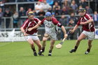 Galway v Westmeath Leinster Senior Hurling Championship Quarter Final at Cusack Park, Mullingar.<br /> Galway's Damien Hayes and Westmeath's Paul Fennell and Alan McGrath