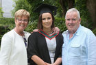 Dr. Danielle McConnell from Athlone with her parents Caroline and Kieran after she was conferred with the degree of B.Sc in Speech and Language Therapy at NUI Galway.