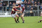 Galway v Westmeath Leinster Senior Hurling Championship Quarter Final at Cusack Park, Mullingar.<br /> Galway's Damien Hayes and Westmeath's Paul Fennell