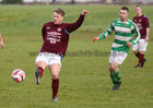 West United v Castlerea Celtic at South Park.<br /> Joe Collins, West United