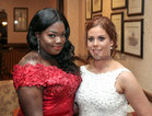Esther Shekete, Knocknacarra, and Megan Harty, Kingston, at Salerno Secondary School Debs Ball in the Ardilaun Hotel.