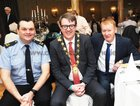 At the Claddagh Senior Citizens dinner in the Galway Bay Hotel. wereL Garda Hugh Rodgers, Cllr Neil McNelis,Mayor of Galway and Cathal O Conchuir,
