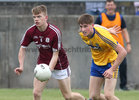 Galway v Roscommon Connacht Under 20 Football sem-final at Tuam Stadium. Galway's Conor Campbell and Roscommon's D Ruane