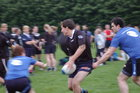 Action from week 3 of Tag Rugby at Corinthians<br /> <br /> Dave Joyce of Stack in their match against NRG Fitness