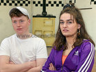 "Colaiste Iognaid students Cian Gilroy and Ava Lowry during rehearsals for their musical ""Hot House"". The in-house production will run in the Jesuit Hall at the school in Sea Road from Tuesday March 13 to Thursday March 15."
