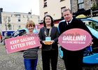 <br />  At the launch of Galways Anti Gum LItter  Awareness Programme, at the Square Clifden, were: Nuala Cashin, Cllr Eileen Mannion, Mayor of County Galway and Thomas O'Sullivan,  Town Warden.