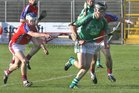 <br /> Liam Mellows, Dave Fahy,<br /> and<br /> St. Thomas, Cian Kelly,<br /> during the Senior Hurling Championship at Athenry.