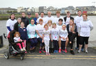 Pictured before taking part in the Galway Hospice Memorial Walk in memory of Finbar O'Halloran, Oughterard, were, back row from left: Annette Tierney, Ciara Tierney, Bobby Tierney, John Cahill, Frankie O' Halloran, Antony Caine, Darragh O' Toole, Bosco O' Halloran and Kieran O' Halloran.<br /> Middle Row from left: Niamh Tierney, Clodagh Tierney, Hilda O' Halloran Caine, Leanonra O' Halloran, Mary O' Halloran, Maria O' Halloran, Sarah O' Toole and Yvonne O' Halloran Cahill. <br /> Front row, from left: Saorlaith Cahill, Kacey O' Halloran, Rowen Cahill and Naoise Cahill.