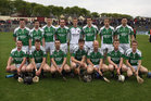 The Sarsfields team which drew with Turloughmore in the Senior Hurling Championship at Athenry.<br />  Back Row(left to right).<br /> Kieran Dolan, Kieran Kelly, Sean Kelly, Diarmuid Murray, Fergal Hynes, Niall Morrissey, Ian Skehill, Eamon Cleary.<br /> <br />  Front Row.<br />  Joseph Burke, Kevin Hynes, Kerril Wade, Joseph Cooney, Ronan Quinn, Niall Quinn, Noel Kelly.