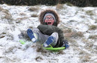 With schools closed many children were out having fun in the snow at Salthill Park.