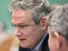 Galway West Fine Gael candidate Sean Kyne TD looks on during the count at Galway Lawn Tennis Club.
