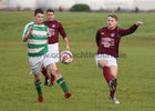 West United v Castlerea Celtic at South Park.<br /> Joe Collins, West United and Peter Farrell, Castlerea Celtic