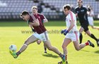 Galway v Cork Allianz Football League Division 2 Round 1 game at the Pearse Stadium.<br /> Galway's Damien Comer and Cork's James Loughrey