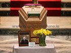 The remains of former Bishop of Galway, Most Rev Eamonn Casey during the removal at Galway Cathedral.