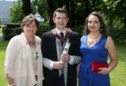 Dr. Joseph Carty, Kiltulla, Athenry, with his mother Mary and Grace Carroll from Lackagh, after he was conferred with the degrees of M.B. B.Ch. B.A.O., Honours, at NUI Galway