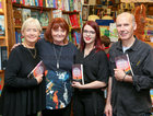 Patricia Forde's new novel, 'Mother Tongue', was launched by Rebecca Bartlett at Charlie Byrne's Patricia, second from left, is pictured with Rebecca, left, Michaela McDermott, Childrens Bookseller at the bookshop, and Charlie Byrne.