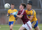 Galway v Roscommon Connacht Under 20 Football sem-final at Tuam Stadium.<br /> Galway's Colibn Murray and Roscommon's C Shanagher