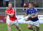 Tuam Stars v Killannin Senior Football Championship game at the Pearse Stadium.<br /> Cathal Sweeney, Killannin and Shane Curtin, Tuam Stars
