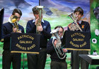 The Patrician Brass Band performing in the Christmas Show at St Patrick's Boys' National School.