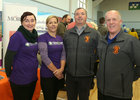 Deirdre Whyte and Jennifer Carpenter of Hand in Hand Childrens Cancer Charity, and Michael Cannon and Joseph Dempsey of the Oranmore Maree Coastal Search Unit, at the Bank of Ireland Enterprising Town competition hosted at Oranmore Community Centre.