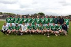 The Moycullen team defeated by Tommie Larkins  in the Senior Hurling Championship at Athenry.<br />  Back Row(left to right).<br />  David Faherty, Richie Deavney, Sean Rossa McDermott, Matt Donoghue, Barry Faherty, Eanna Noone, Conor Bohan, Tomas Higgins, Dan Kelly, Mark Lydon, Seosamh O'Fatharta, Philip Lydon, Robert Molloy, Michael Hurney,<br /> <br />  Front Row.<br />  Michael Darcy, Paul Burke, Niall Mannion, Eric Fox, Seamus O Conghaile, Pat Lydon, Christopher Hurney, Vincent Faherty, Morgan Darcy, Martin Mulkerrins, Shane Barrett.
