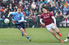 Galway v Dublin Allianz Football League Division 1 game at the Pearse Stadium.<br /> Galway's Séan Armstrong and Dublin's Jonny Cooper