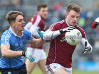 Galway v Dublin Allianz Football League Division 1 game at the Pearse Stadium.<br /> Galway's Eoghan Kerin and Dublin's Michel Fitzsimons