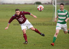 West United v Castlerea Celtic at South Park.<br /> Alan Murphy, West United and Peter Farrell, Castlerea Celtic