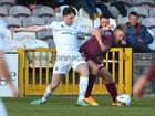 Galway United v UCD League game at Eamonn Deacy Park.<br /> Galway United's Alex Byren and UCD's Jason McClelland