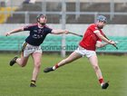 St Raphael's College, Loughrea v Castlecomer Community School, Kilkenny, Masita GAA All-Ireland Post Primary Schools Paddy Buggy Cup Senior B Hurling final at Bord na Móna O'Connor Park, Tullamore.<br /> Keith Dervan, St Raphael's College, and Thomas Brennan, Castlecomer Community School.