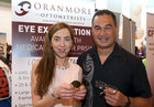Connacht Head Coach Pat Lam pictured with Jude Duggan, proprietor of Oranmore Optometrists, at Oranmore Enterprise Town Business, Sports and Community Expo, hosted by the Bank of Ireland at Calasanctius College last weekend.