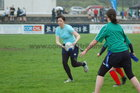Action from week 3 of Tag Rugby at Corinthians<br /> <br /> Siobhan Quaid of Scrummy Dummies