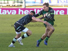 Connacht v Ospreys Guinness PRO14 game at the Sportsground.<br /> Connacht's John Porch and Rhys Webb, Ospreys