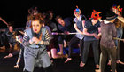 "Performers taking part in the Galway Community Circus production of ""The Circus Guide to Chaos Theory"" at the Shantalla Community Centre in Galway city on bank holiday Monday."