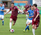 Galway United v Finn Harps SSE Airtricity League game at Eamonn Deacy Park.<br /> Galway United's Conor Melody and Aidan Friel, Finn Harps