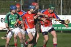 <br /> Liam Mellows, John Hughes and Niall McInerney,<br /> and<br /> St. Thomas, Sean Burke and Shane Cooney,<br /> during the Senior Hurling Championship at Athenry.
