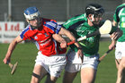 <br /> Liam Mellows, Brian Lee,<br /> and<br /> St. Thomas, Cian Kelly,<br /> during the Senior Hurling Championship at Athenry.