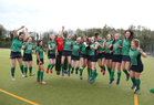 Greenfields v Athlone Connacht Junior Cup Hockey final at Dangan.<br /> Greenfields players celebrate after they defeated Athlone 3-1 to win the Connacht Junior Hockey Cup final at Dangan.
