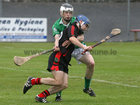 <br /> Tommie Larkins, Stephen Page,<br /> and<br /> Moycullen's, Tomas Higgins,<br /> during the Senior Hurling Championship at Athenry.