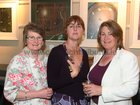 Una Breathnach, Highfield Park, Audrey Reilly, Menlo and Maeve O'Neill Lee, Menlo, at the opening of artist Maurice Walsh's exhibition at the Town Hall Theatre.