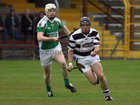 Sarsfields, Niall Quinn,<br /> and<br /> Turloughmore's, Francis Forde,<br /> during the Senior Hurling Championship at Athenry.