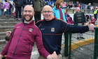 Galway supporters, cousins Willie Mulrooney and Michael Mulrroney, both from Ballygar, at Dr Hyde Park in Roscommon last Sunday for the Connacht Senior Football final.