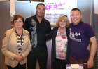 Connacht Head Coach Pat Lam with Marie Brennan, Mary Lane Heneghan and Patrick Dempsey supporting C F Galway (Cystic Fibrosis) at Oranmore Enterprise Town Business, Sports and Community Expo, hosted by the Bank of Ireland at Calasanctius College last weekend.