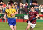 Galway v Roscommon Connacht Under 20 Football Championship semi-final in Kiltoom.<br /> Galway's Padraig Costello and Roscommon's Ronan Dowd