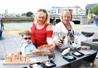Mary Connolly, Shantalla, Niamh Synnott and Theresa O'Connor, Woodquay, at the Market Day at the Spanish Arch